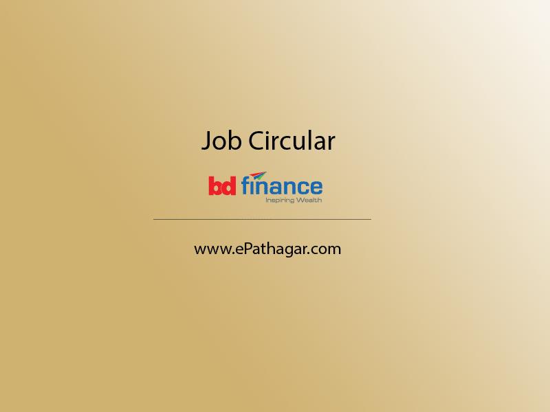 job circular - bd finance ltd